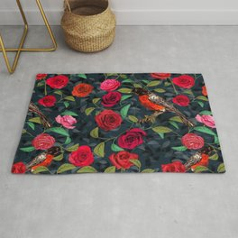 Roses and Robins Rug