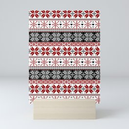 Winter Fair Isle Pattern Mini Art Print