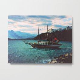 Turkish Boat | Antalya, Turkey Metal Print