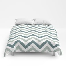 Classic Chevron in Shades of Gray Comforters