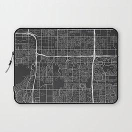 Tempe Map, USA - Gray Laptop Sleeve
