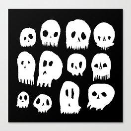 Spooky Skulls Canvas Print