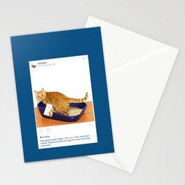Litter Box Selfie Stationery Cards