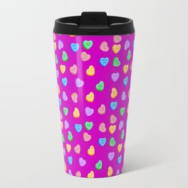 Happy Valentine's Day Candy Hearts pattern Travel Mug