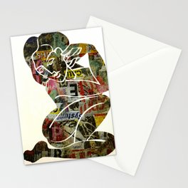 Graffiti Girl Modern Abstract Fine Art Nude Painting Pop ART Stationery Cards