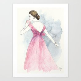 'Emma' Watercolor Fashion Illustration Art Print