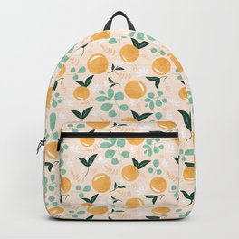 Floridian Orange Floral Backpack