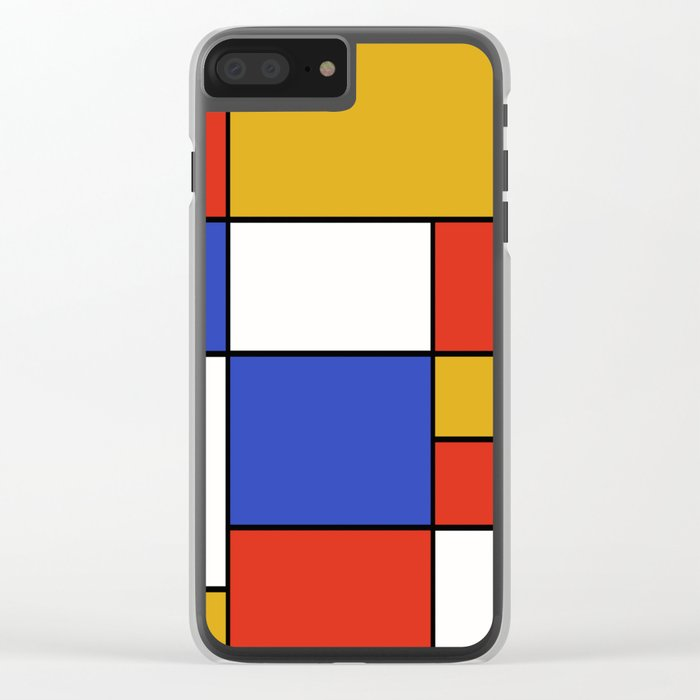 Abstract #401 Mondriaan #8 Clear iPhone Case