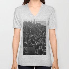 Manhattan Skyline, NY, fine art print, new york city, high quality photo Unisex V-Neck