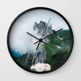 Flower Mountain in Switzerland - Landscape Photography Wall Clock