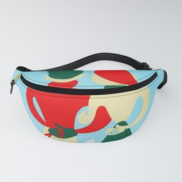 Winter Sports - Vintage Swissair Travel Poster Fanny Pack
