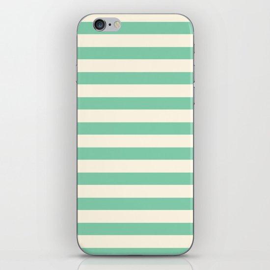 Mint Green Stripes  iPhone & iPod Skin