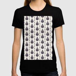 Vector pattern. Linocut striped diamond shapes. T-shirt