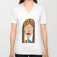 nasa V-neck T-shirts featuring Nasa by Joe Pansa