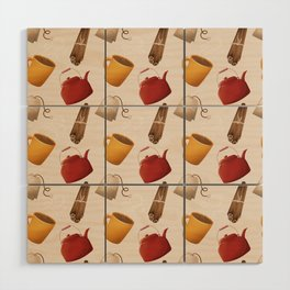 Brown Fall Style Tea and Coffee Wood Wall Art