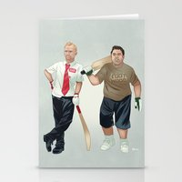 shaun of the dead Stationery Cards featuring Shaun of the Dead by Dave Collinson