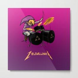 Zelda llinka - Purple Link Metal Print