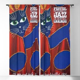 1995 Montreal Jazz Festival Cool Cats Poster Gig Advertisement Blackout Curtain