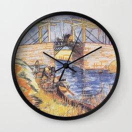 Vincent van Gogh - The Bridge of Langlois at Arles (1888) Wall Clock