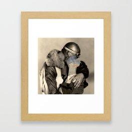 Loving until hurts Framed Art Print