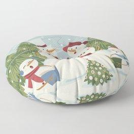 Christmas Song / Snowmen Floor Pillow