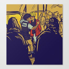 Enjolras gets arrested by Coptaire Canvas Print