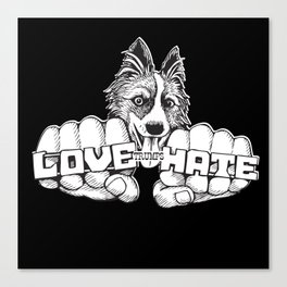 Love trumps hate. Canvas Print