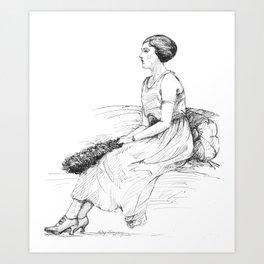 Fashionable Woman Art Print