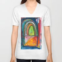 door V-neck T-shirts featuring Door by Beth Ann Short