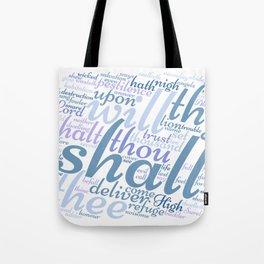 Psalm 91 Word Art Tote Bag