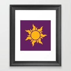 Tangled Rapunzel Sun Logo - Corona Symbol Framed Art Print