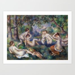 Bathers in the Forest by Pierre-Auguste Renoir Art Print