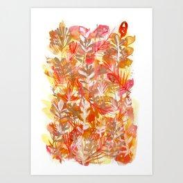 Leaves Texture 01 Art Print