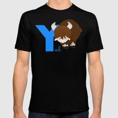 y for yak Mens Fitted Tee SMALL Black