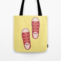 dorothy Tote Bags featuring dorothy  by freshinkstain