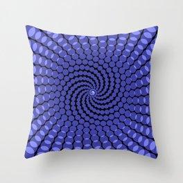 more blue spirals Throw Pillow