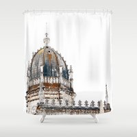 portugal Shower Curtains featuring  Jeronimos Monastery, Lisbon, Portugal  by Philippe Gerber