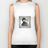 johnlock Biker Tanks featuring Happiness Is A Warm Blogger by Marlowinc