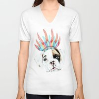 puppy V-neck T-shirts featuring Puppy by 13 Styx