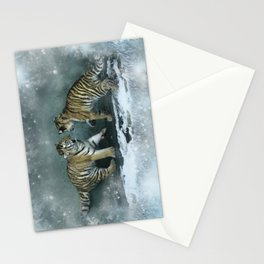 Playful Tiger Cubs Stationery Cards