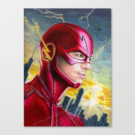 Barry Allan-THE FLASH Canvas Print