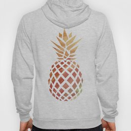 Tropical Pineapple Coral Hoody