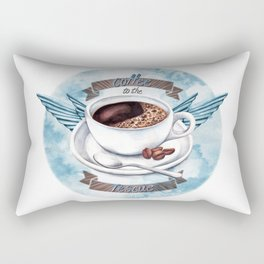 Coffee To The Rescue Rectangular Pillow