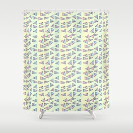 Multicolor triangles-abstraction,abstract,geometric,geometrical,pattern,triangle,order Shower Curtain