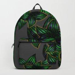 green golden Leaf design Backpack