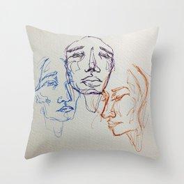3's Throw Pillow