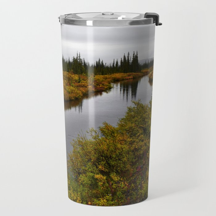 Autumn on the Kanuti River Travel Mug