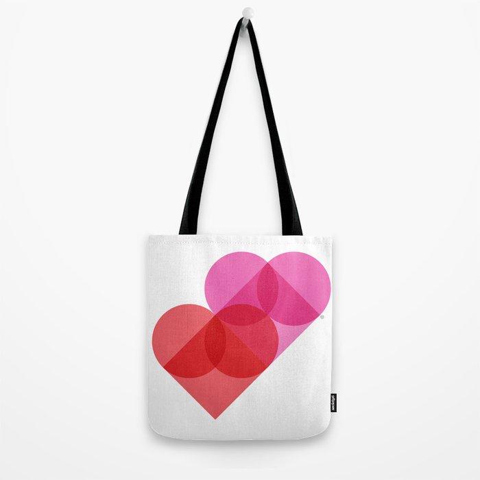 Geometric Love Tote Bag