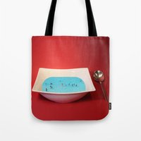 witchoria Tote Bags featuring God Complex by witchoria