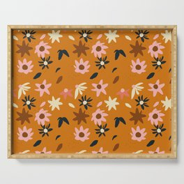 Fall flowers pattern Serving Tray